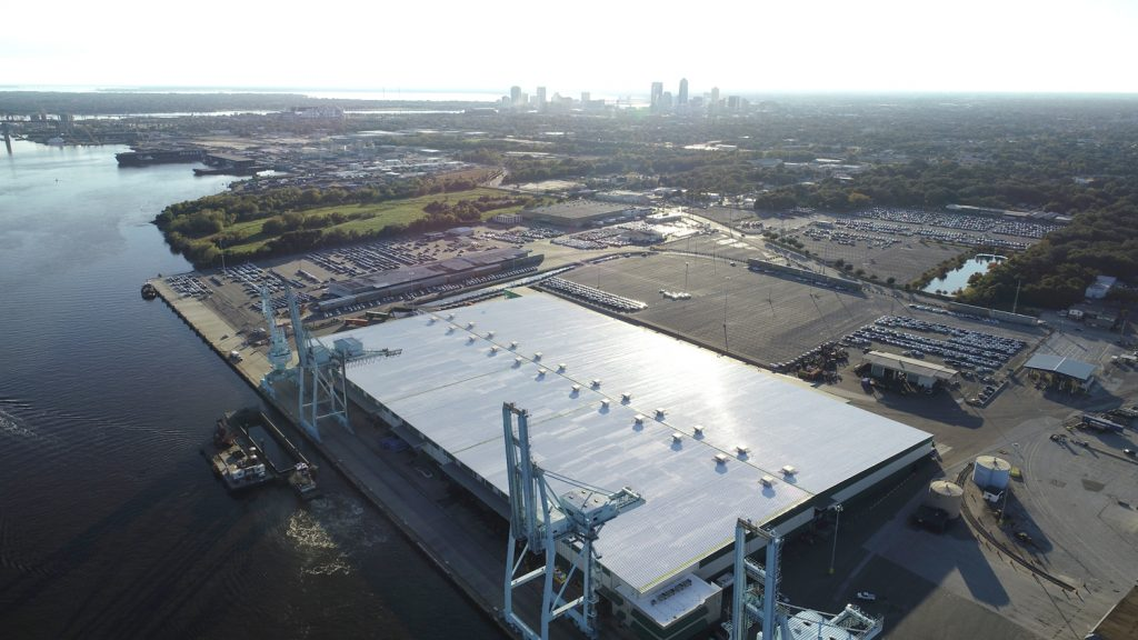 Silicone Roof Project - Port of Jacksonville Florida