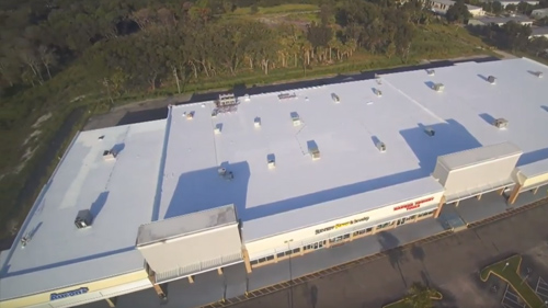 Commercial Roofing Project - Silicone Roofing Coating