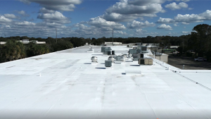 Commercial Roofing Project - Silicone Roof Restoration